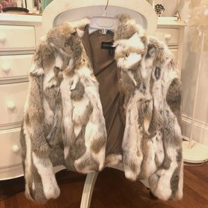 REAL Rabbit Fur Coat Size M